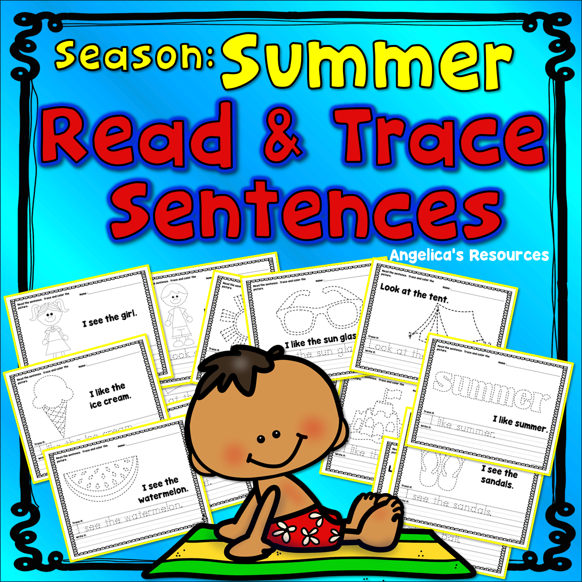 Seasons Summer Sight Words Handwriting Worksheets End