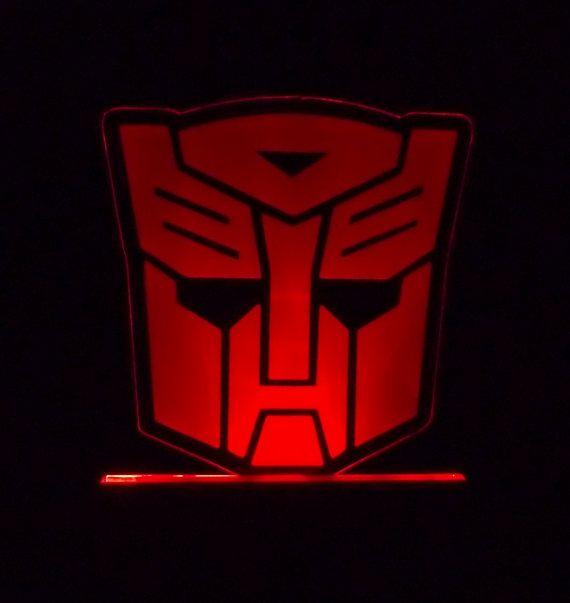 48 Transformers Autobot Symbol Edge Lit Acrylic Art Piece