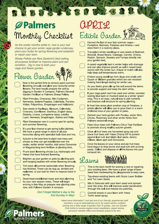 april checklist for the garden gardening pinterest gardens