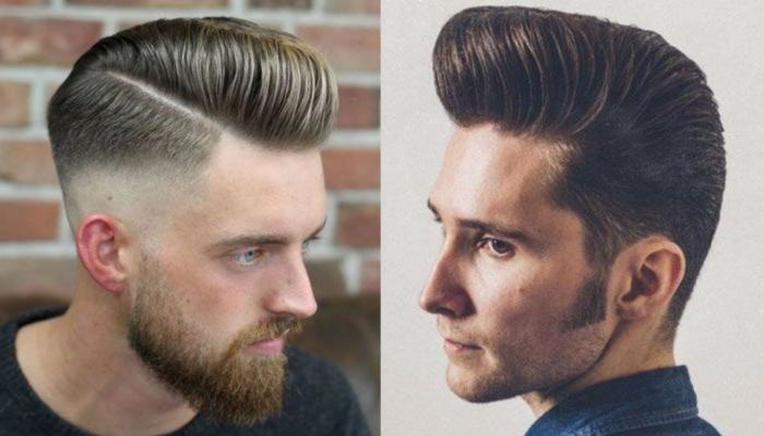 Die Moderne Pompadour Ist Eine Stilvolle Variante Eines Coolen Klassischen Stils Wahrend Die Herren Pompadour Frisur Heutzutage Eines Der Frisuren In 2019