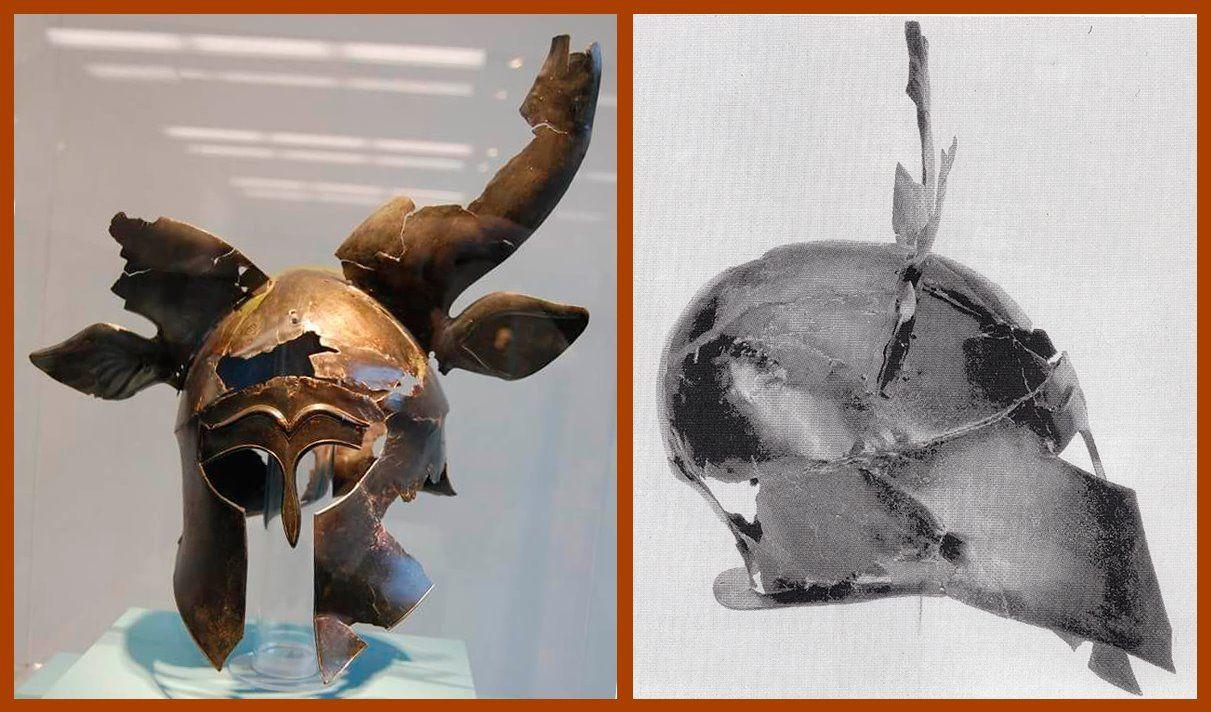 Corinthian helmet. 490-460 BCE, Museum Kassel Wilhelmshöhe. In the ...