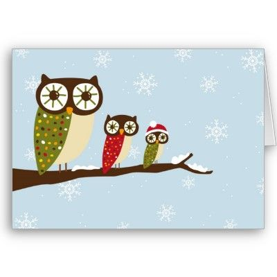 Winter owls greeting card owl owl card and winter winter owls greeting card m4hsunfo