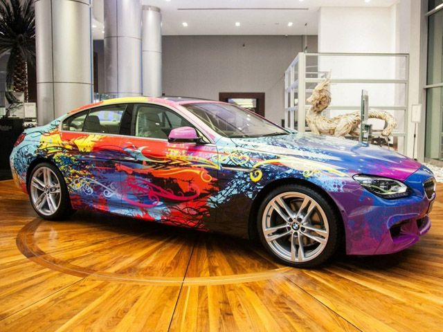Bmw 650i Gran Coupe Bekommt Die Art Car Behandlung Bmw650igrancoupe Bmw Autohaus Bmw Coupe