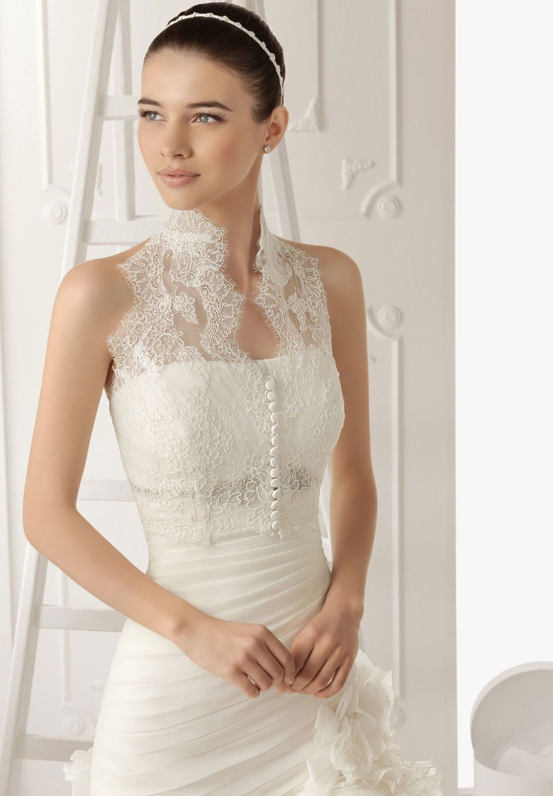 a romantic wedding gown with sweetheart bodice scoop neck yoke. 30 ...