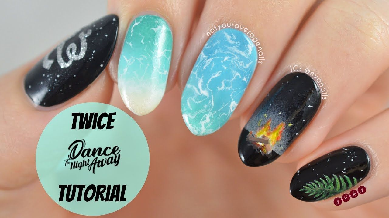 Twice Dance The Night Away Nail Art Tutorial Nail Art Tutorial