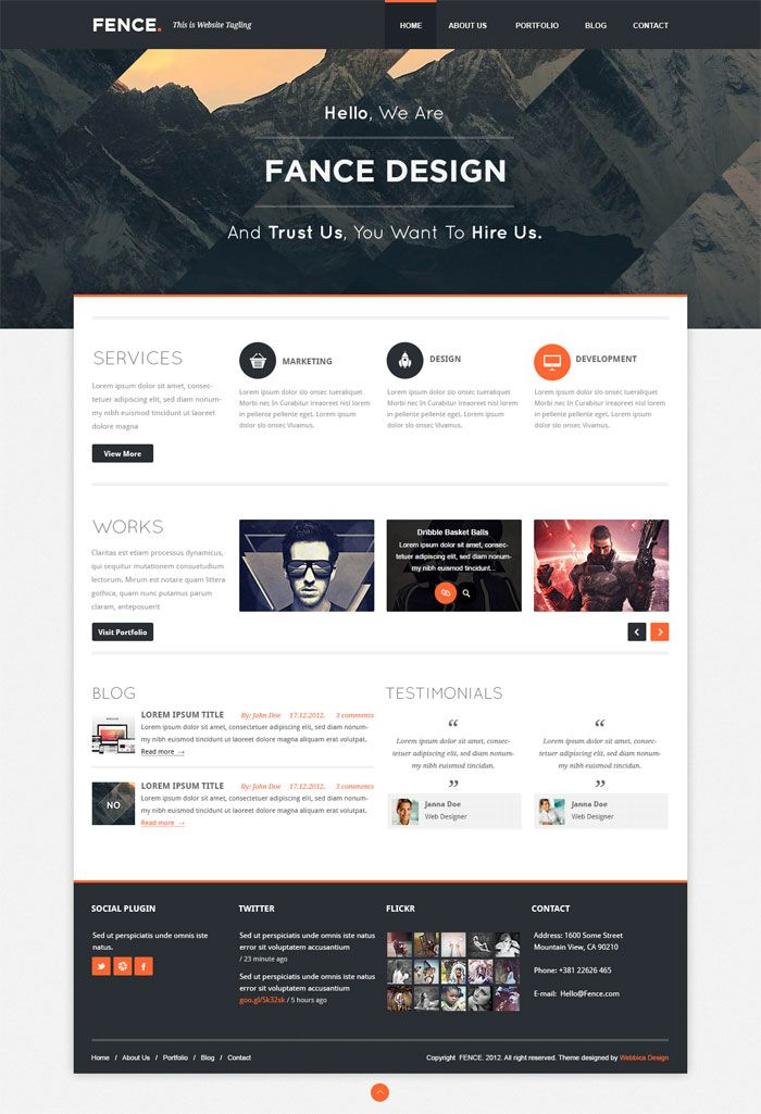 Clean + Modern Layout. Full Width Header. Clean Type For