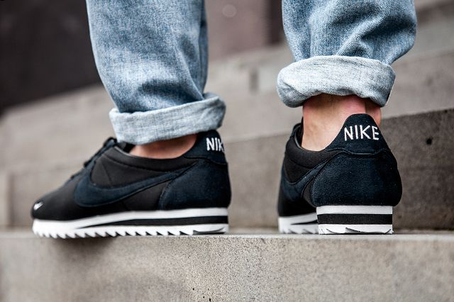 NIKE CORTEZ BIG TOOTH BY NIKELAB (BLACK/WHITE) - Sneaker Freaker
