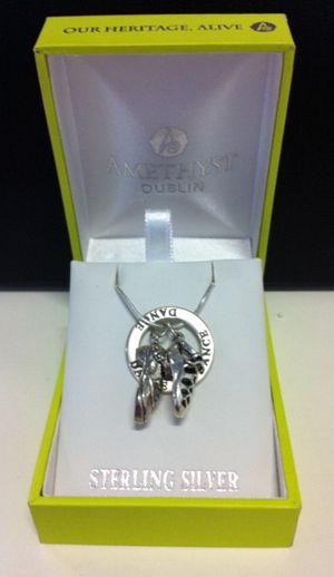 Irish Girl Hand Stamped Charm Necklace Irish Dancer Jewelry Gift For Irish Girlfriend