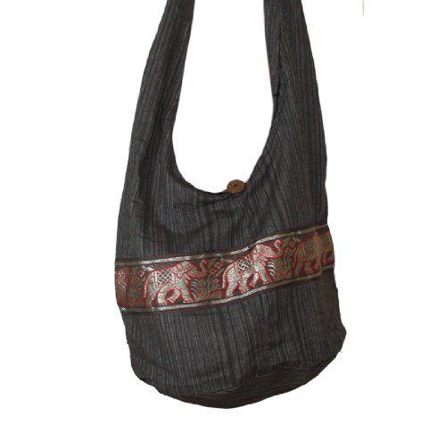 30e32dfb82cf Tonka Elephant Hippie Hobo Bags Messenger-Bags Shoulder Bag Pure Crossbody  Bag