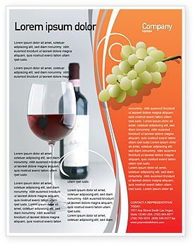 Inviting you to a dinner bottle of wine flyer template for Wine brochure template
