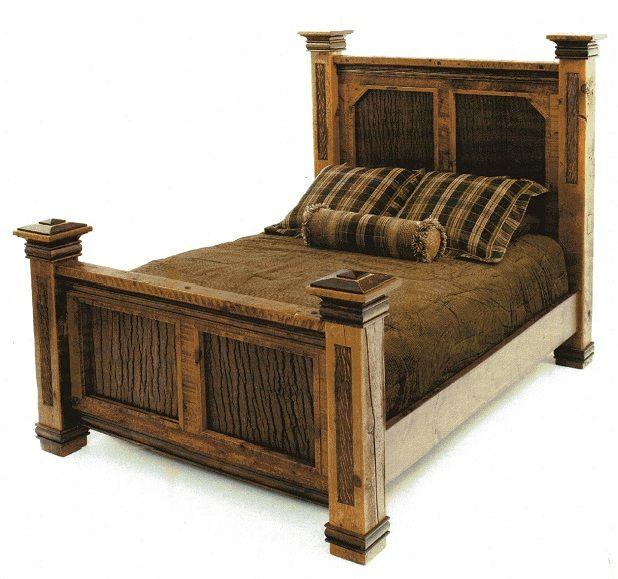 Barn Wood Bedroom Furniture: Beds : Glacier Bay Deerbourne Bed