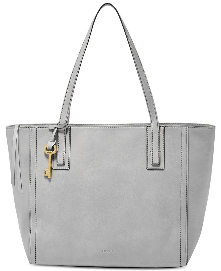 Fossil Emma Leather Tote Clearance Handbags Accessories Macy S