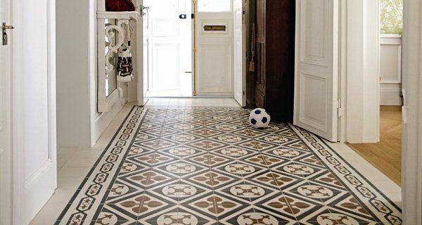 Cement Tile Satin Finish Floor Decor Ideas Corridor