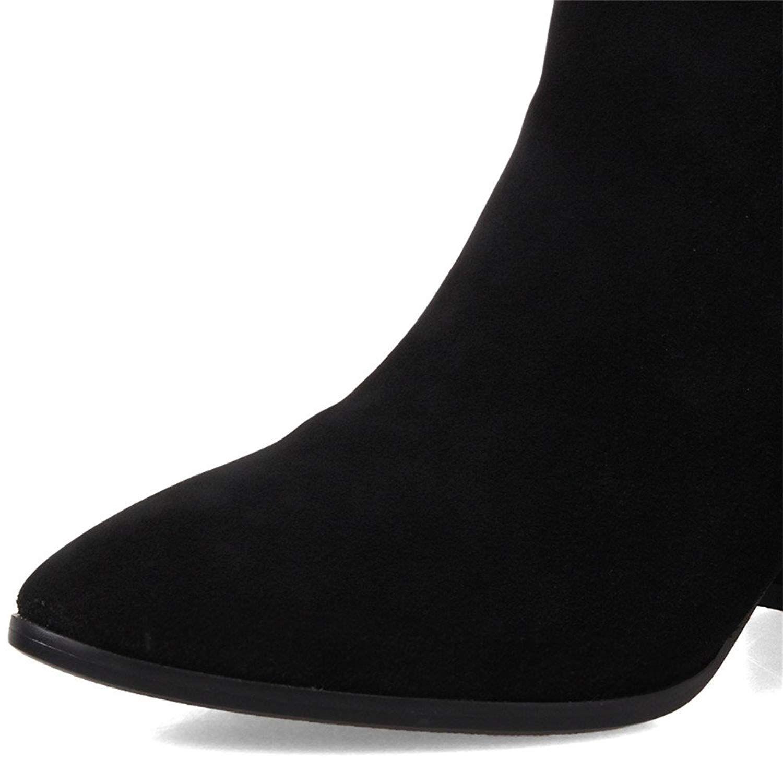 neuf - sept orteil femmes daim cuir orteil sept chunky talon arri d60c39