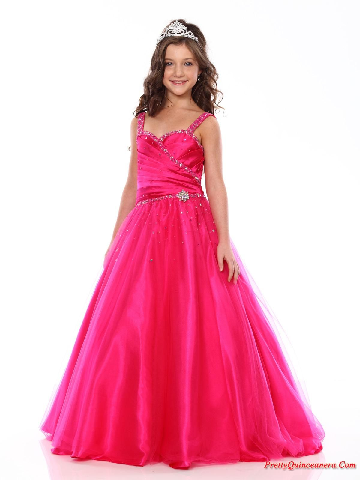 ball gown dresses for girls | Beautiful ball gown strap floor length ...