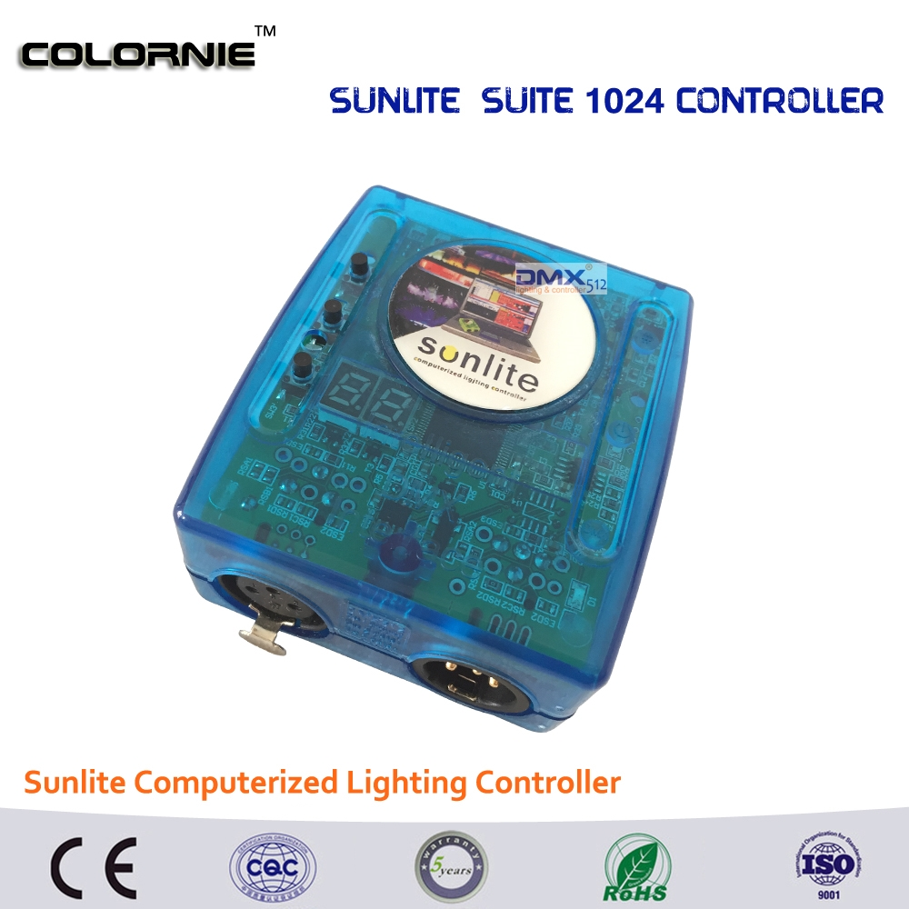 228.04$  Watch now - http://ali67g.worldwells.pw/go.php?t=32735188979 - DHL Free shipping  Sunlite Suite1024 DMX Controller 1024 CH Easy Show Lighting Effect Stage Equipment , DMX Color changing Tool