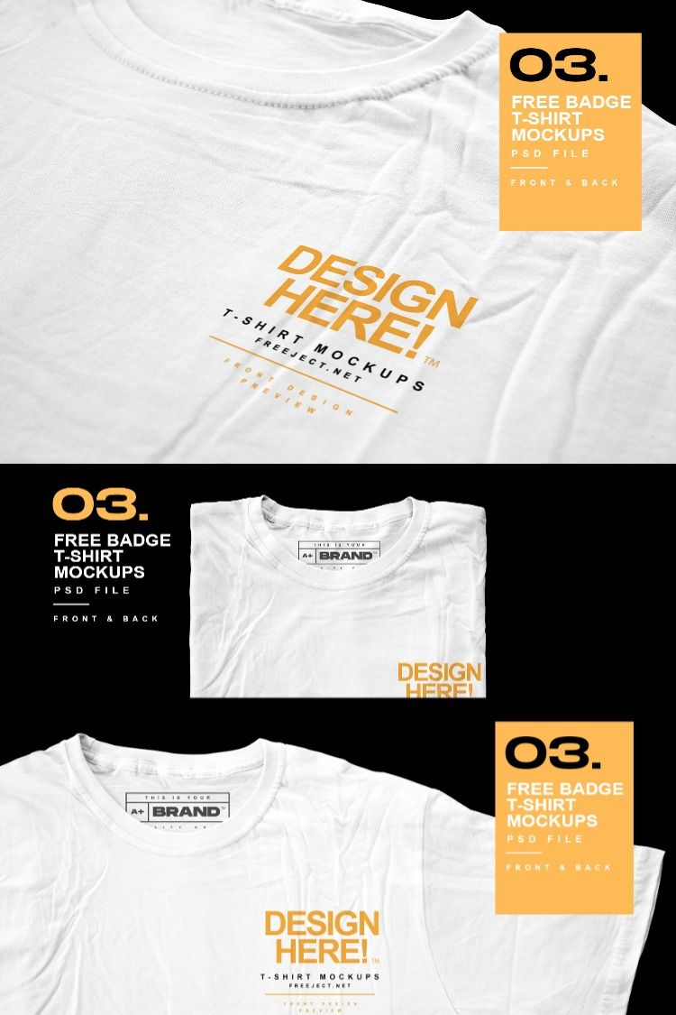 Download Free Download Detail Badge On T Shirt Mockups Design Psd File Shirt Mockup Mockup Design Shirt Designs