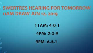 Swertres Hearing JUN 12 2019 – At this page you can find the