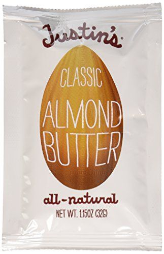 Justins Almond Butter Squeeze Packet, Classic, 1.15 Ounce...