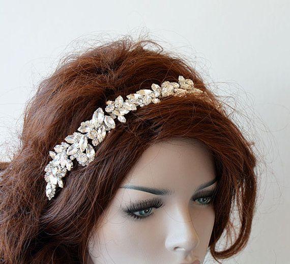 Bridal Silver Rhinestone Headband, Wedding Headpiece, wedding Hair Accessories, Crystal Hair Piece, Accessories Bride, Bridal Halo #crowntiara