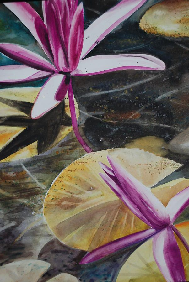 watercolor of waterlilies...very tranquil
