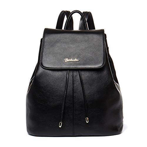 86382e84101 BOSTANTEN Vintage Womens Leather Backpack Casual Daypack Handbags for  Ladies Girls Black    Click image