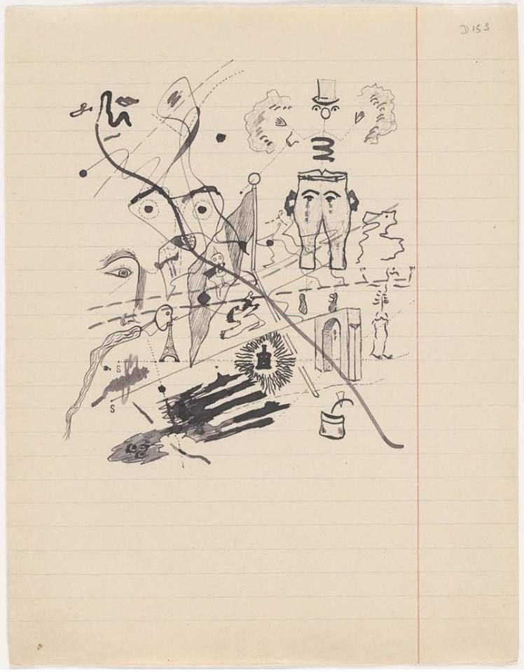 Georges Bataille, Untitled drawing for Soleil Vitré, circa 1925.