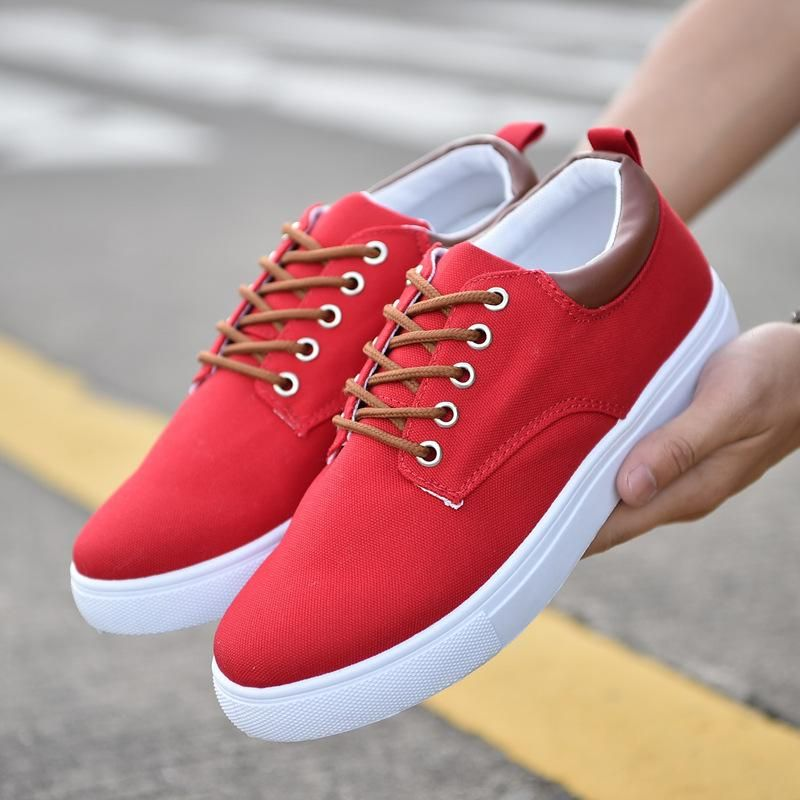 Men S Spring Summer Comfortable Casual Shoes In 2021 Mens Canvas Shoes Sneakers Men Fashion Lace Up Shoes