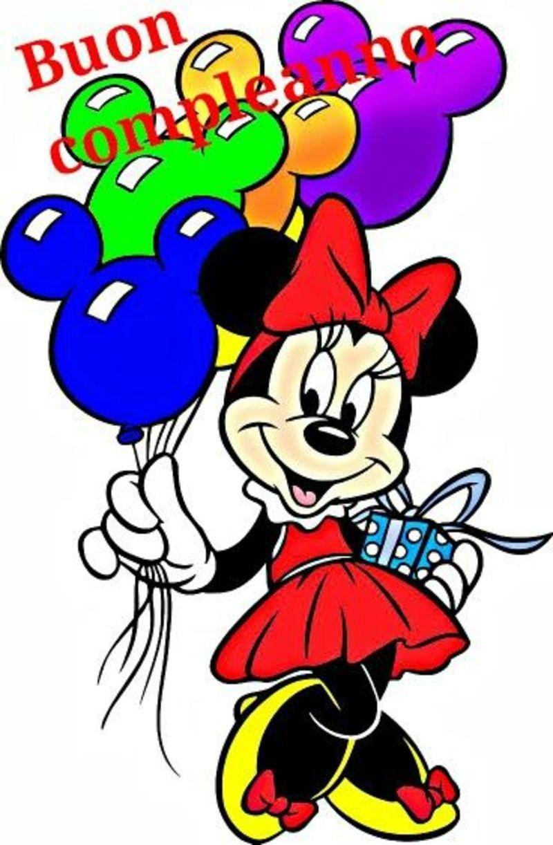 Buon Compleanno Con Disney Minnie Buon Compleanno Pinterest