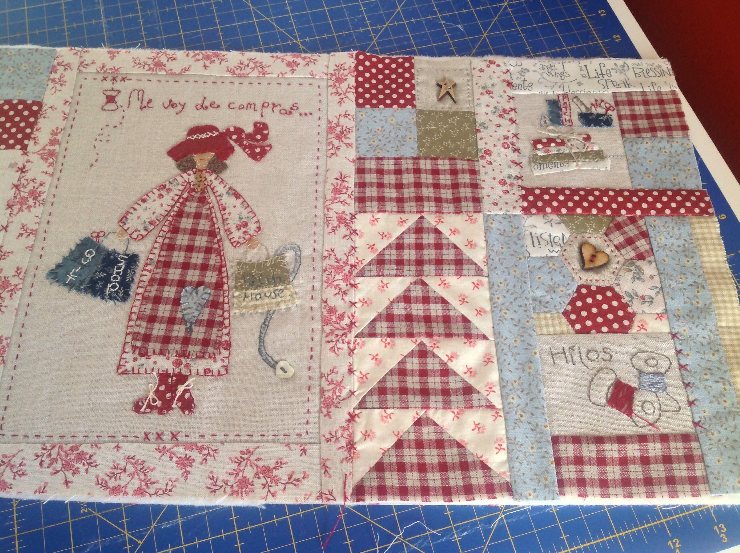 Esther se va de compras proyecto mini quilt cose y calla - Proyectos de patchwork ...