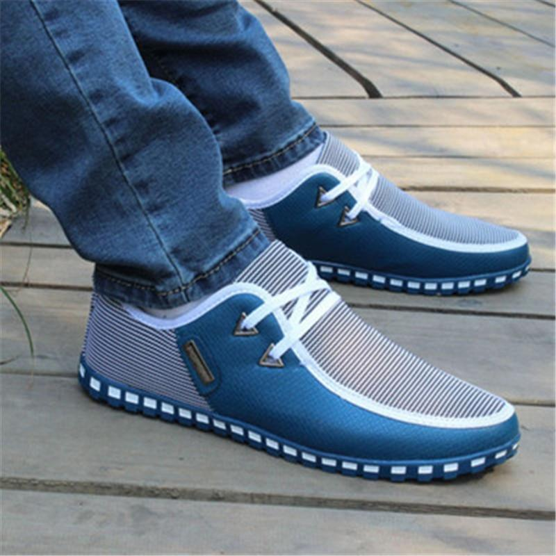 New Released Casual Laceup Breathable Laceup Men Shoes is part of Leather shoes men - Autumn Fit Fits true to size, take your normal size Bottom of the shoe Wearresistant Prevent slipping Toe cap Round type Prevent collision vamp fashion Breathable Inside Sweat deodorant Linen+PU