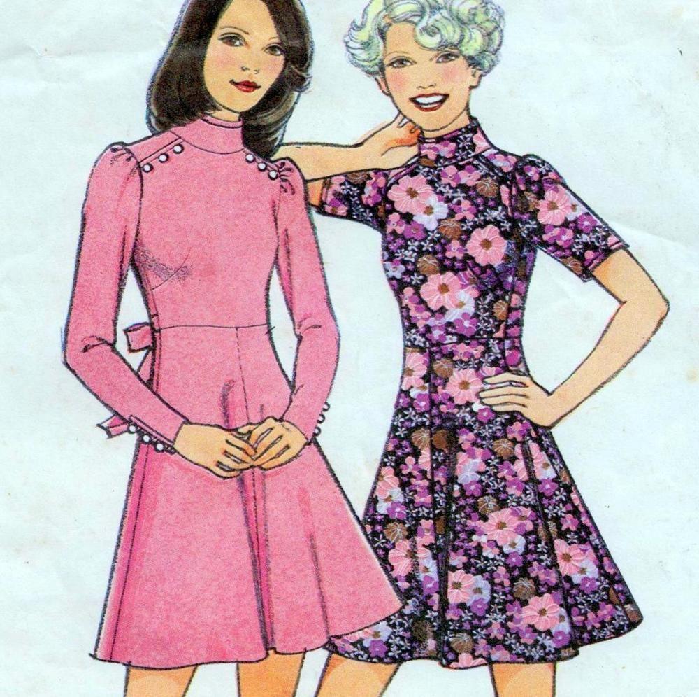Vintage s dress sewing pattern bust