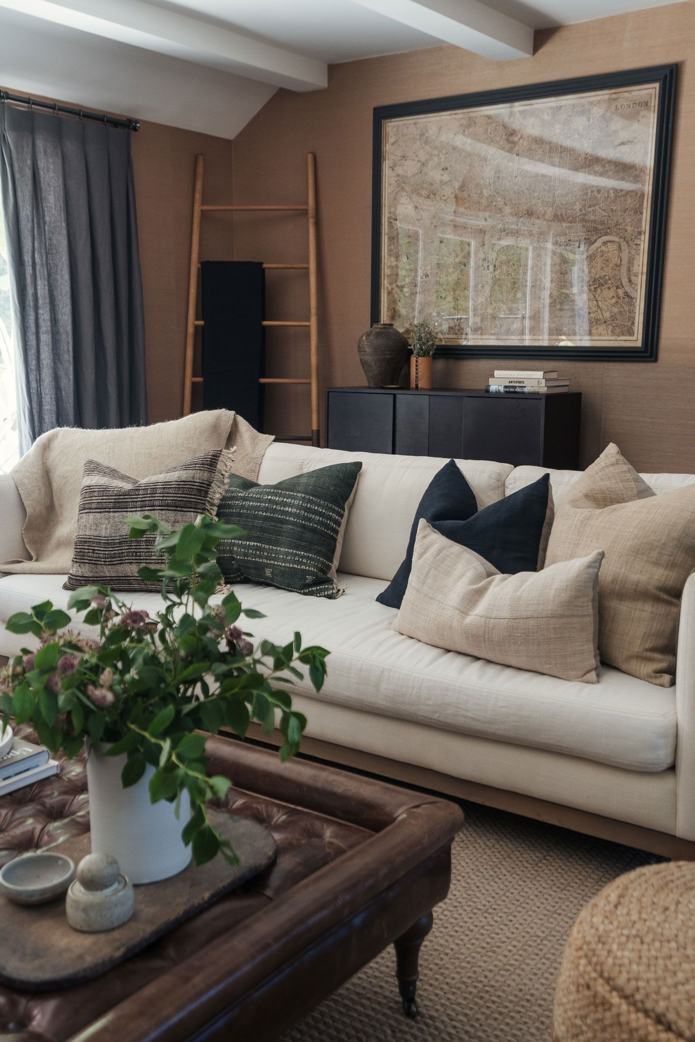 How To Warm Up Your Home With Neutral Tones Front Roe By Louise Roe Living Room Warm Neutral Living Room Brown Home Decor #warm #neutral #living #room