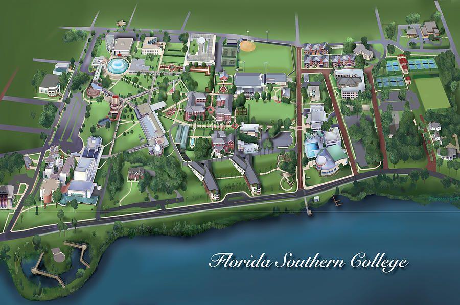 florida southern college campus map Florida Southern College By Rhett And Sherry Erb Florida florida southern college campus map