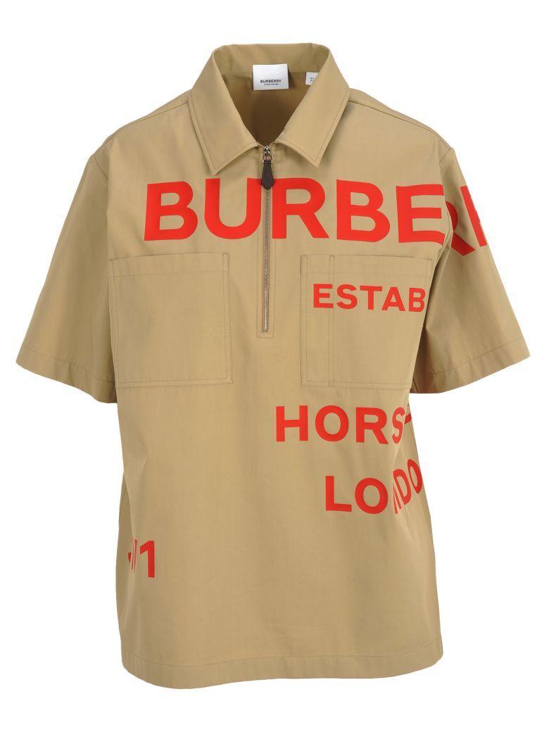 46c5a4384 Burberry London Burberry London Shirt #84 - HONEY + RED PRINT - 10950428 |  italist