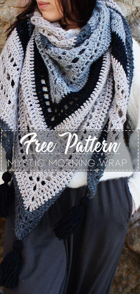 Mystic Morning Wrap – Pattern Free  #crochetscarves