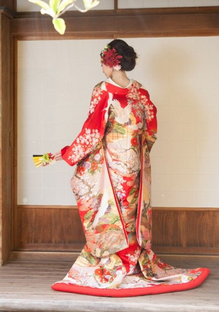 c394852ca211b 760 翔鶴花流水赤|ウェディングドレスのレンタルならジュレカーラ(東京・横浜・大宮)