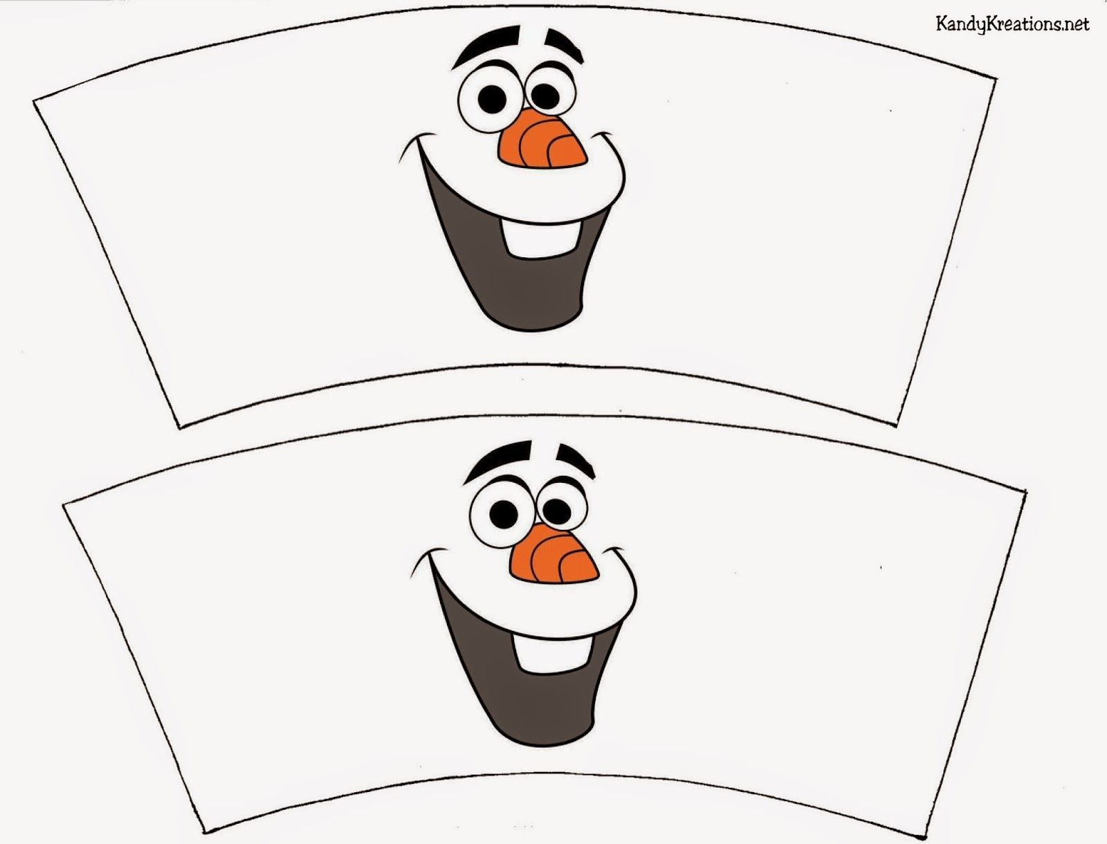 picture regarding Olaf Printable known as Basic Olaf Cup Wrapper Printable frozen Olaf birthday
