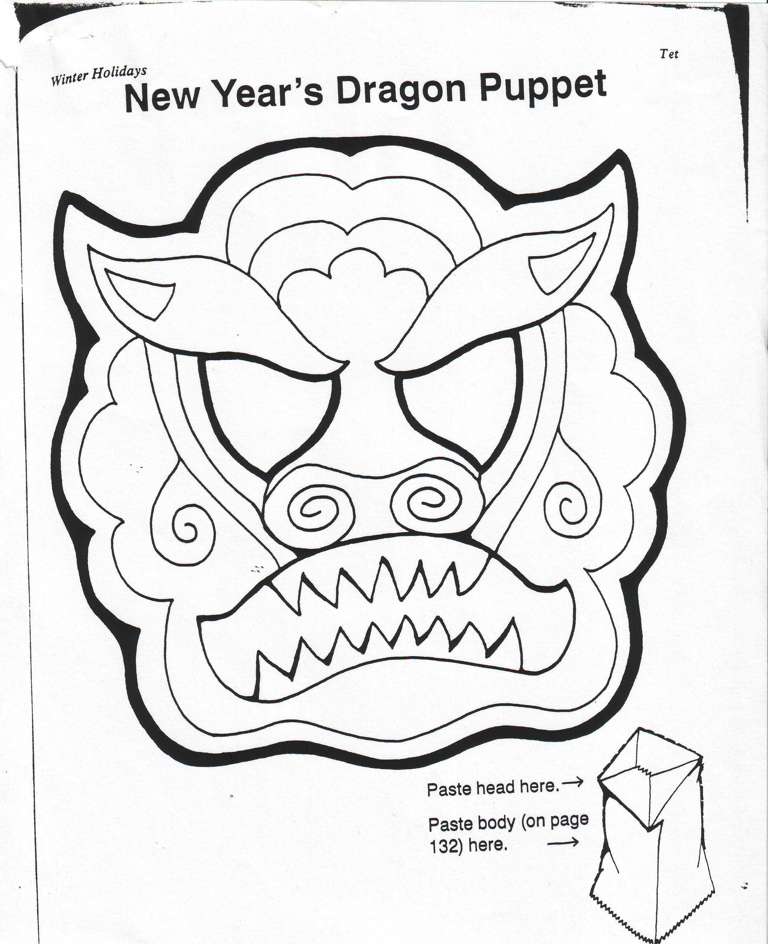dragon puppet | How To Draw A Chinese Dragon Face Dragon puppet face ...