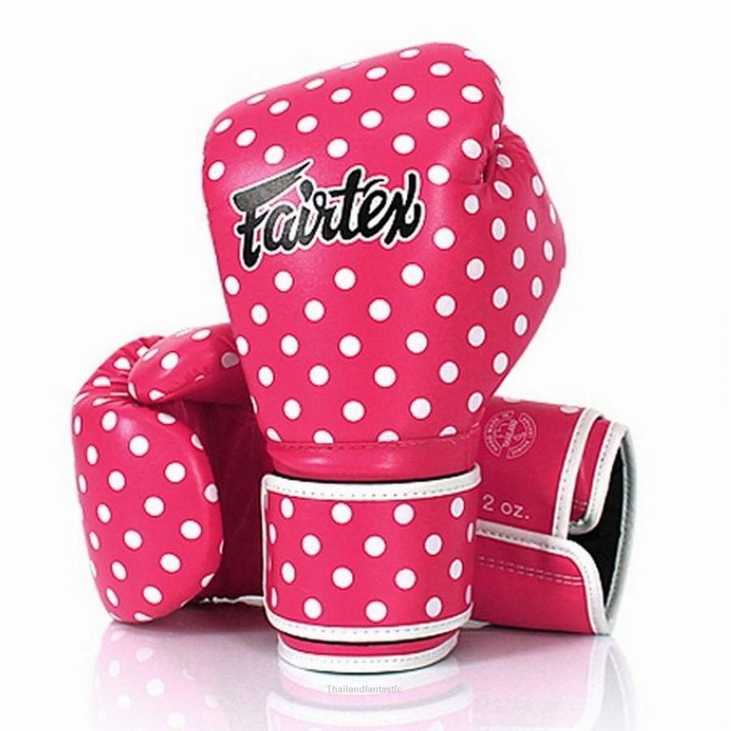 Fairtex BGV14P Polka Dot Pink Kick Boxing Sport Fight
