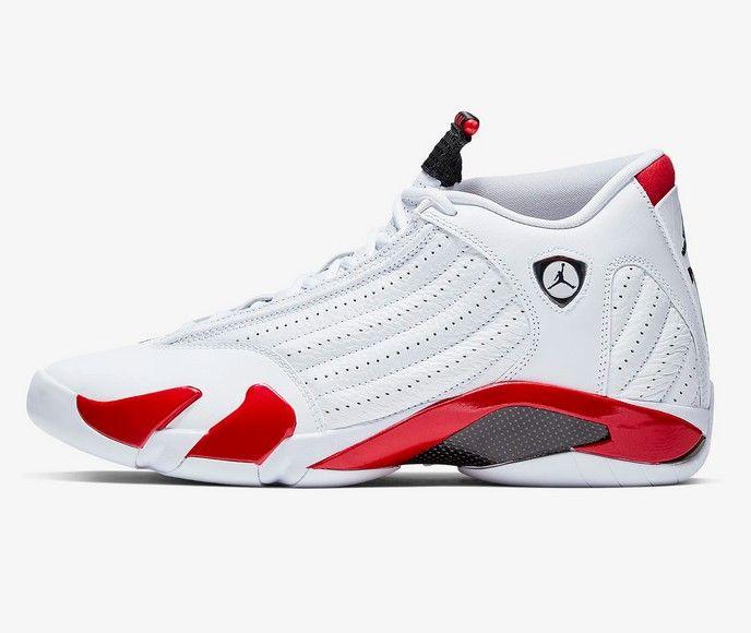 Nike Air Jordan 14 Retro Blanc/Rouge intense/Argent métallique ...