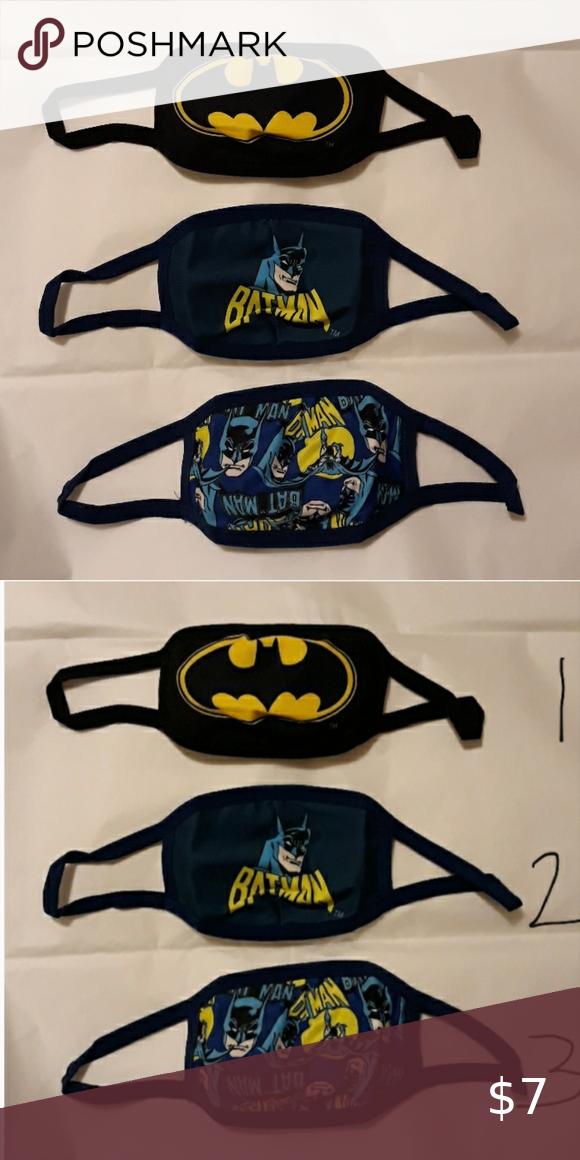 Sold 3 X Children Kids Batman Face Masks Face Mask Batman Kids Face Mask Brands