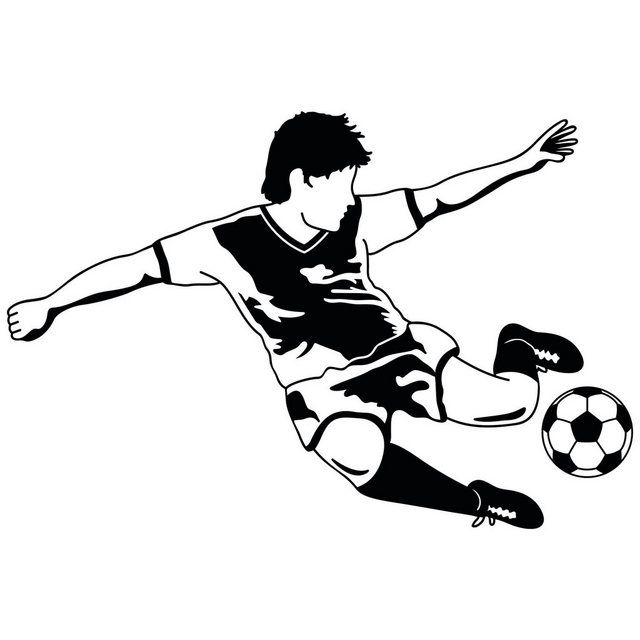 Photo of Bilderwelten Wall Decal »Football Star«, wall sticker made of self-adhesive, smooth wall film OTTO
