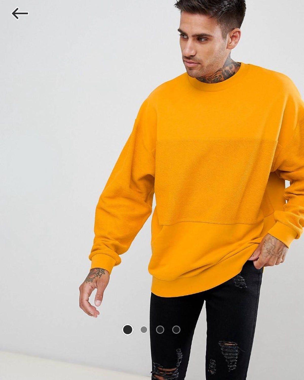 Asos Oversized Sweatshirt W Reverse Oversized Sweater Men Oversized Sweatshirt Outfit Mens Sweatshirts Hoodie [ 1498 x 1200 Pixel ]
