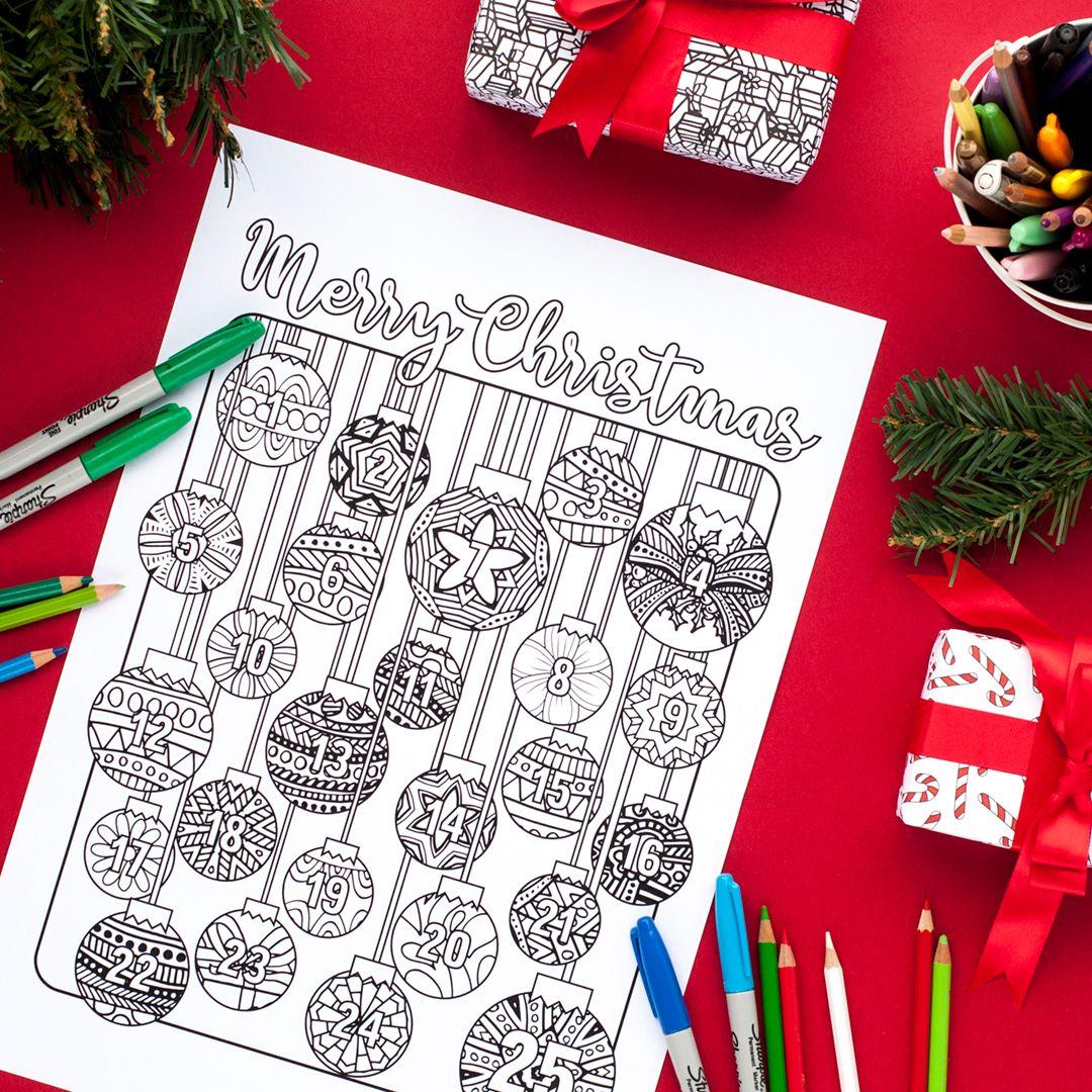 Coloring Advent Calendar Sarah Renae Clark Coloring Book Artist And Designer Printable Christmas Coloring Pages Christmas Printable Activities Christmas Coloring Pages [ 1080 x 1080 Pixel ]