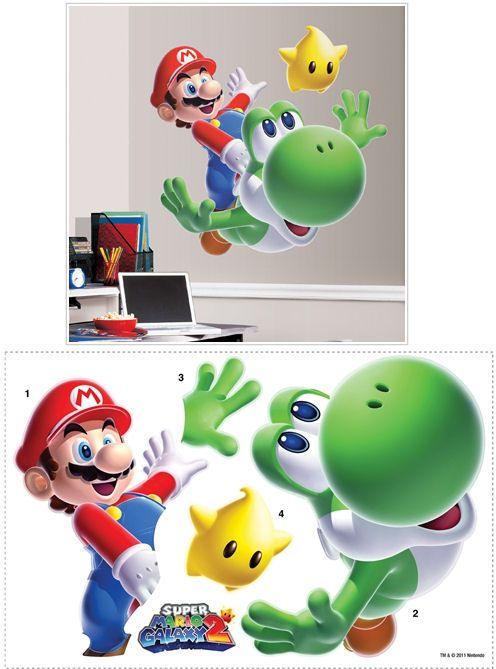 DIY Arts /& Crafts Wall Decoration Super Mario Cart Stickers