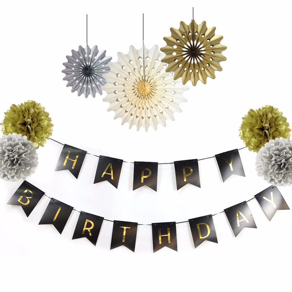 8PCS a Set Tissue Paper Fan Decoration In Party Favor Baby Shower ...