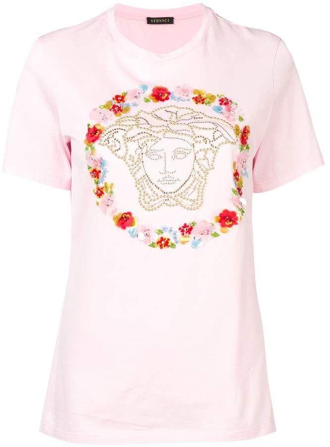 Versace Floral Medusa T Shirt With Images T Shirts For Women Clothes Design Versace
