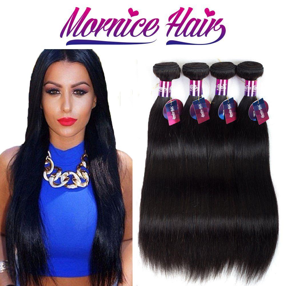 Mornice Hair 10a 4 Bundles Peruvian Remy Virgin Hair Straight Weft