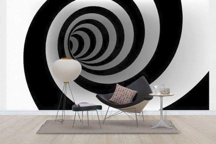 Awesome 3D optical illusion cubes wallpaper wall mural 46114978